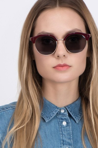 Limoncello Red Metal Sunglass Frames for Women from EyeBuyDirect