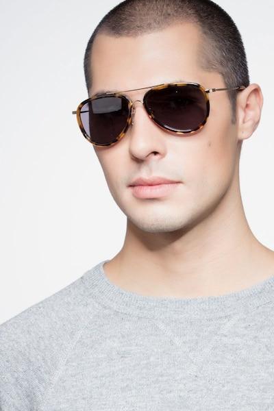 Duke Tortoise Acetate Sunglass Frames for Men from EyeBuyDirect, Front View