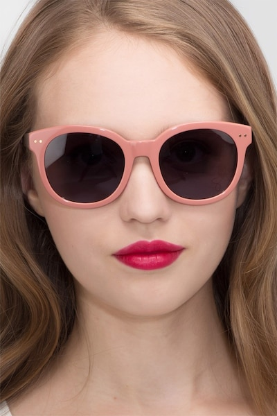 Till Sunset Pink Acetate Sunglass Frames for Women from EyeBuyDirect
