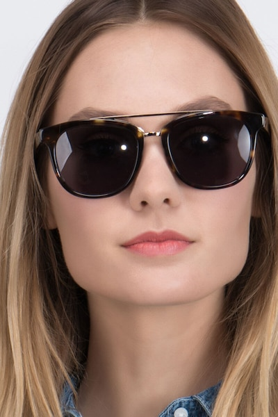 Crown Tortoise Metal Sunglass Frames for Women from EyeBuyDirect
