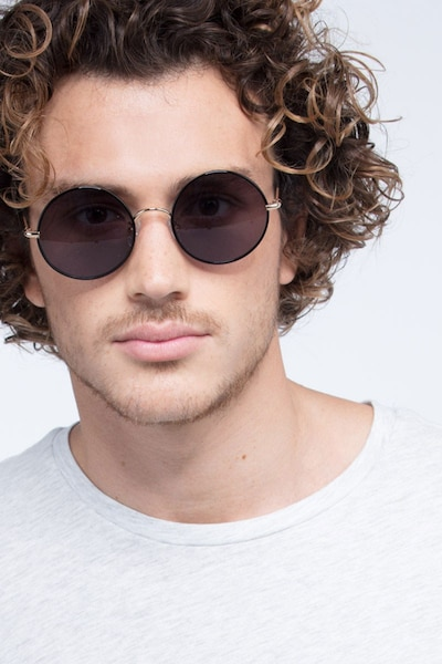 Mojo Black Acetate Sunglass Frames for Men from EyeBuyDirect, Front View