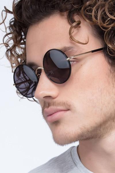 Mojo Black Acetate Sunglass Frames for Men from EyeBuyDirect