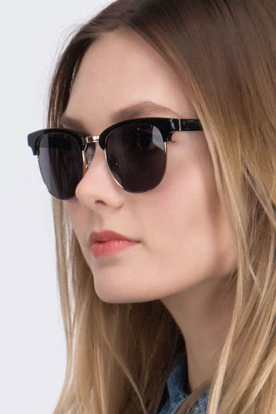 Somebody New Black Acetate Sunglass Frames for Women from EyeBuyDirect