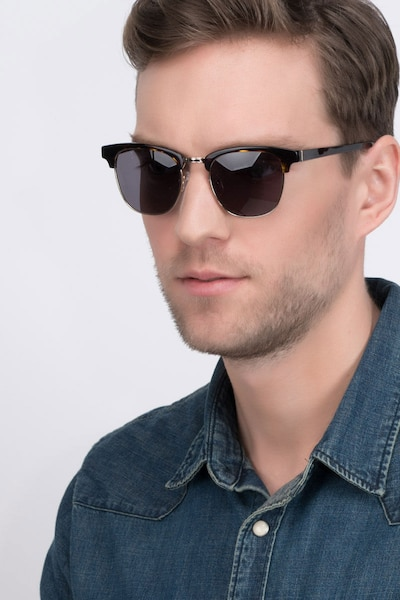 Somebody New Tortoise Acetate Sunglass Frames for Men from EyeBuyDirect, Front View