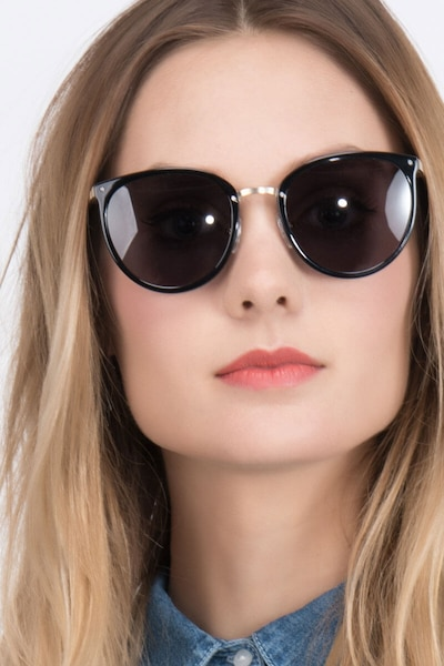 Crush Black Acetate Sunglass Frames for Women from EyeBuyDirect