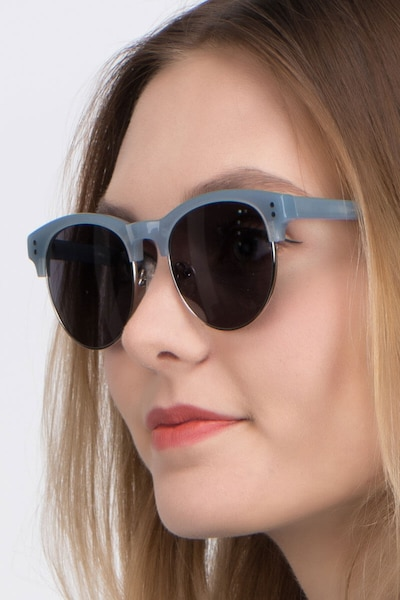 College Light Blue Acetate Sunglass Frames for Women from EyeBuyDirect