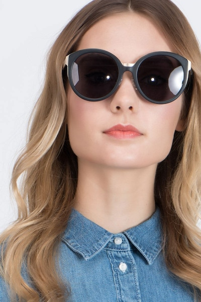 Sunshine Black Acetate Sunglass Frames for Women from EyeBuyDirect