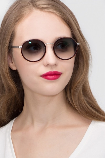 Lady Bird Tortoise Acetate Sunglass Frames for Women from EyeBuyDirect, Front View
