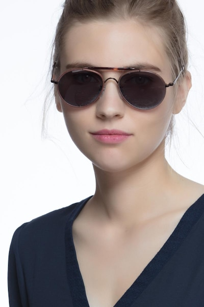 Nairobi Brown Acetate Sunglass Frames for Women from EyeBuyDirect