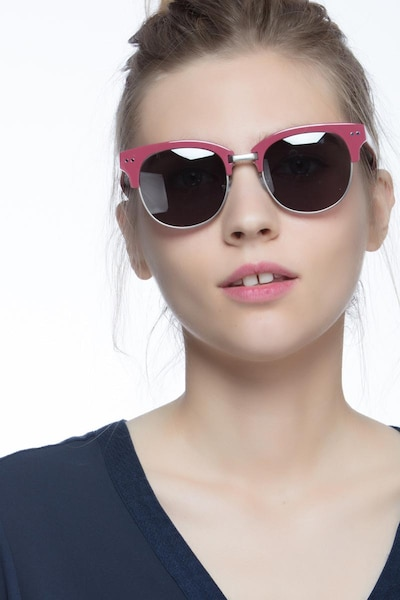 Swift Red Acetate Sunglass Frames for Women from EyeBuyDirect