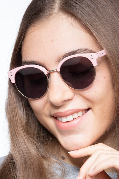 Samba Pink Metal Sunglass Frames for Women from EyeBuyDirect