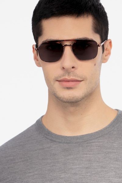 Decode Tortoise Brown Acetate Sunglass Frames for Men from EyeBuyDirect, Front View