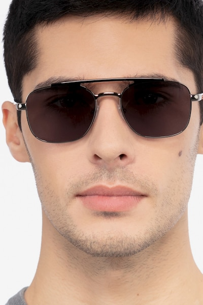 Decode Black Gunmetal Acetate Sunglass Frames for Men from EyeBuyDirect