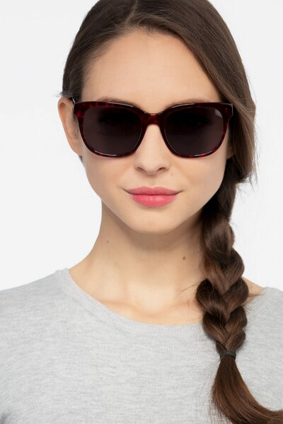 Circuit Purple Tortoise Acetate Sunglass Frames for Women from EyeBuyDirect, Front View