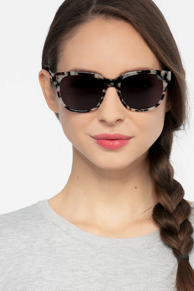 Circuit Gray Tortoise Acetate Sunglass Frames for Women from EyeBuyDirect, Front View