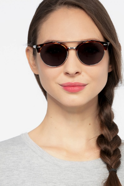 Sands Gray Metal Sunglass Frames for Women from EyeBuyDirect