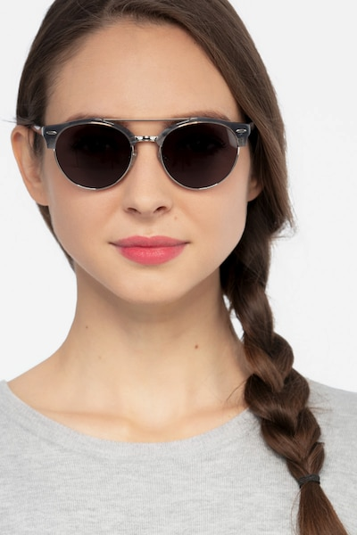 Sands Tortoise Acetate-metal Sunglass Frames for Women from EyeBuyDirect, Front View