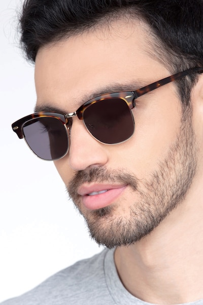 Strata Tortoise Acetate-metal Sunglass Frames for Men from EyeBuyDirect
