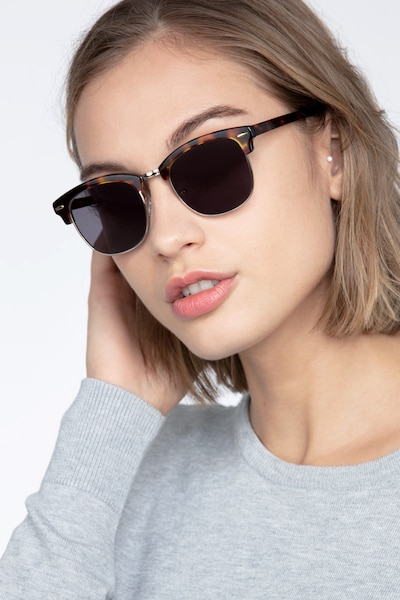 Strata Tortoise Acetate-metal Sunglass Frames for Women from EyeBuyDirect