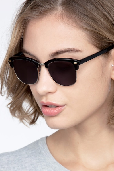 Strata Black Acetate Sunglass Frames for Women from EyeBuyDirect