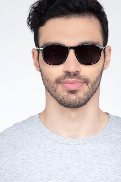 Council Black Metal Sunglass Frames for Men from EyeBuyDirect