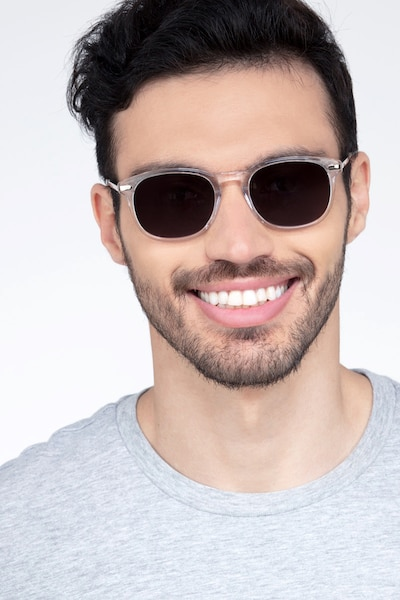 Council Clear Acetate Sunglass Frames for Men from EyeBuyDirect, Front View