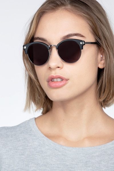 Kiri Black Metal Sunglass Frames for Women from EyeBuyDirect
