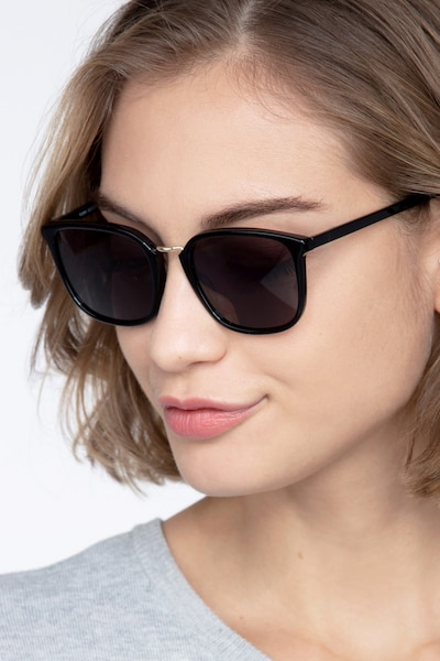 Yuma Black Acetate Sunglass Frames for Women from EyeBuyDirect