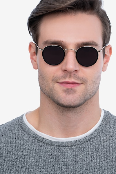 Rollin Black Acetate Sunglass Frames for Men from EyeBuyDirect