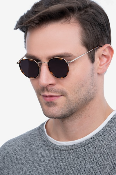 Critic Tortoise Metal Sunglass Frames for Men from EyeBuyDirect, Front View