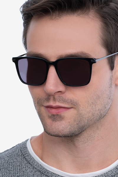Griffith Black Metal Sunglass Frames for Men from EyeBuyDirect