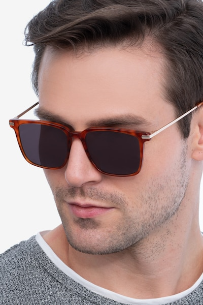 Griffith Light Tortoise Acetate-metal Sunglass Frames for Men from EyeBuyDirect