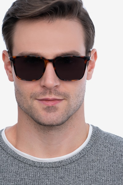 Griffith Tortoise Metal Sunglass Frames for Men from EyeBuyDirect, Front View