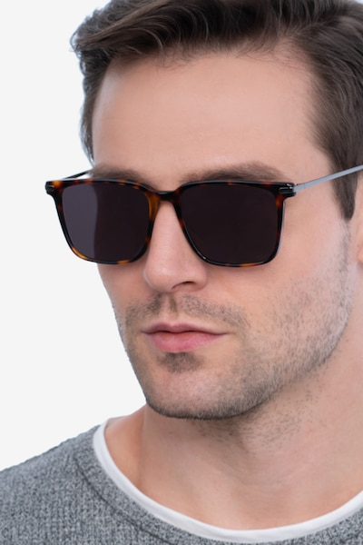 Griffith Tortoise Metal Sunglass Frames for Men from EyeBuyDirect