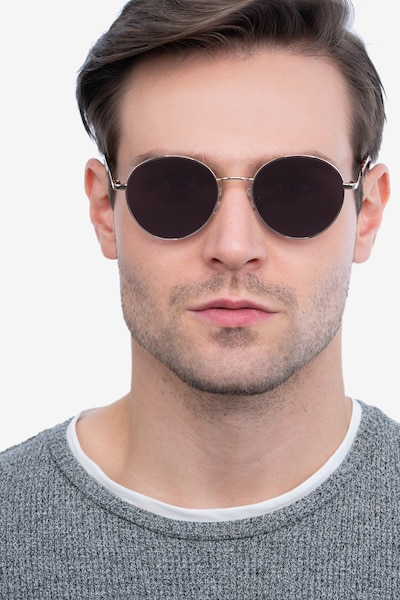Grasp Gold Acetate Sunglass Frames for Men from EyeBuyDirect, Front View