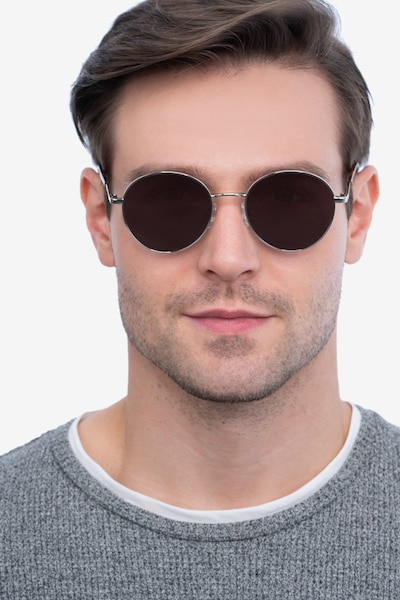 Grasp Silver Acetate-metal Sunglass Frames for Men from EyeBuyDirect