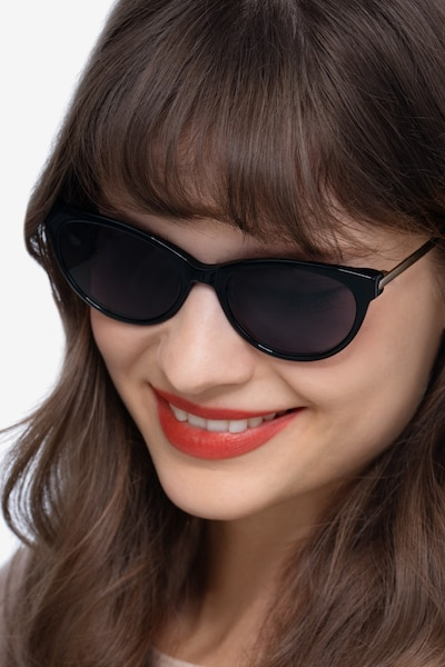 Sun Her Black Metal Sunglass Frames for Women from EyeBuyDirect