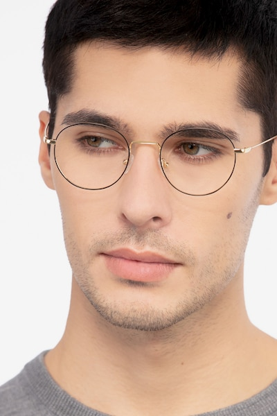 Aegis Black Titanium Eyeglass Frames for Men from EyeBuyDirect