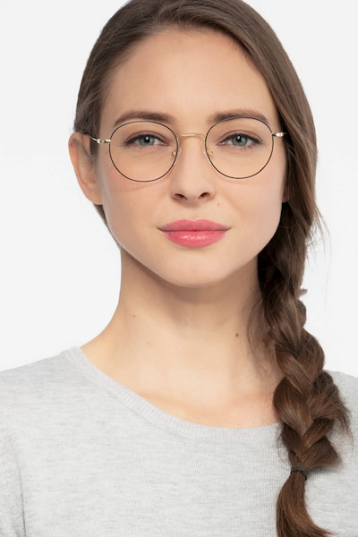 Aegis Black Titanium Eyeglass Frames for Women from EyeBuyDirect, Front View