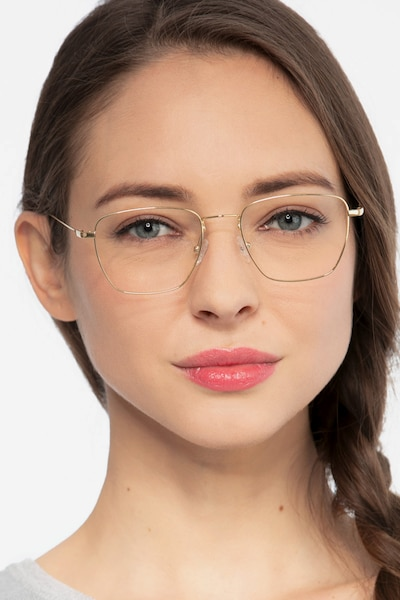 Future Silver Titanium Eyeglass Frames for Women from EyeBuyDirect
