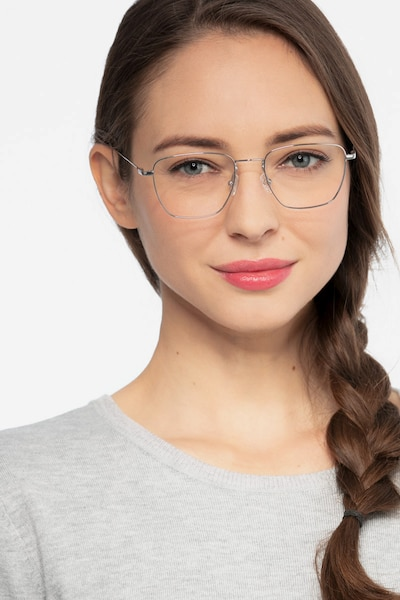 Future Golden Titanium Eyeglass Frames for Women from EyeBuyDirect, Front View