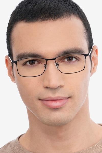 Constant Black Titanium Eyeglass Frames for Men from EyeBuyDirect
