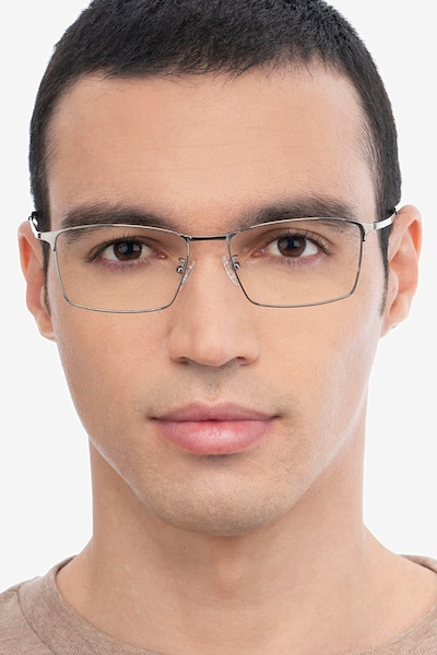 Decider Gunmetal Titanium Eyeglass Frames for Men from EyeBuyDirect