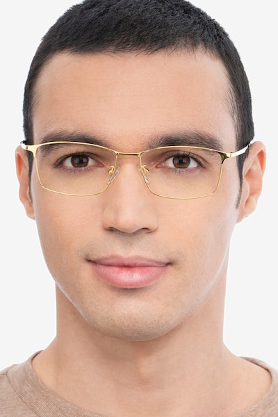 Constant Gold Titanium Eyeglass Frames for Men from EyeBuyDirect