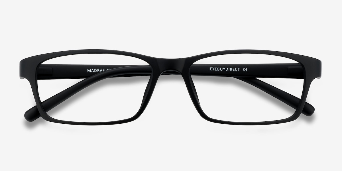Madras | Black | Men Plastic Eyeglasses | EyeBuyDirect