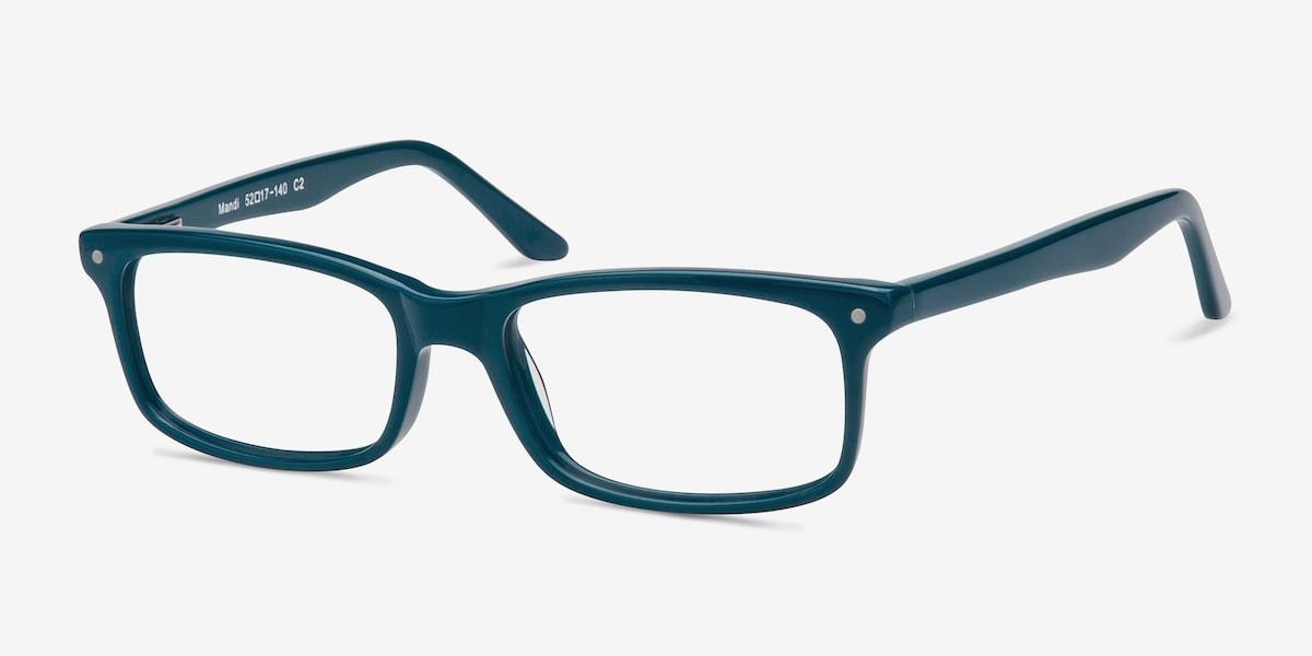 Mandi   Teal Acetate Eyeglasses   EyeBuyDirect