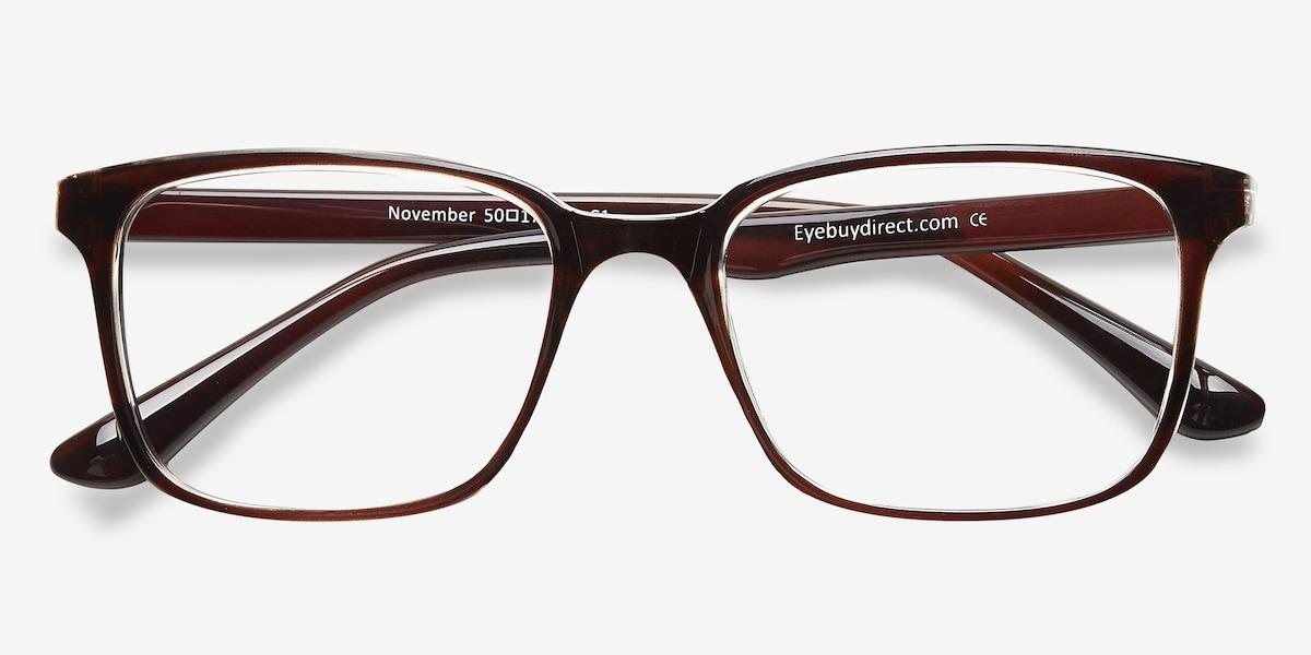 November | Brown Clear Plastic Eyeglasses | EyeBuyDirect