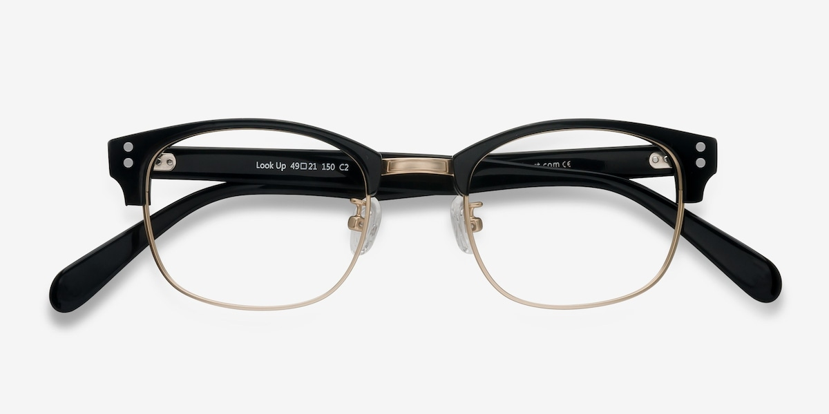 Look Up | Black Acetate Eyeglasses | EyeBuyDirect