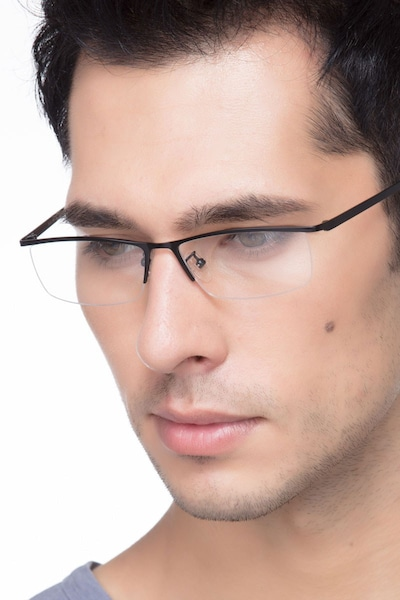 Boon Black Metal Eyeglass Frames for Men from EyeBuyDirect