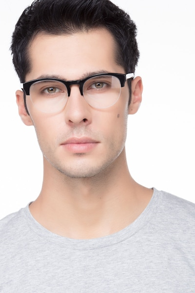 Zoot Black Acetate Eyeglass Frames for Men from EyeBuyDirect, Front View